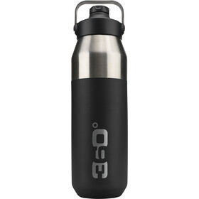 360° degrees Wide Mouth Insulated Drink Bottle with Sipper Cap 1000ml black